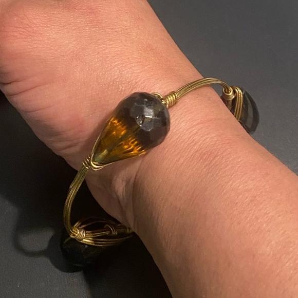BOURBON and BOWTIES L - XL Brown Bangle Bracelet.